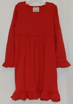 Blanks Boutique Long Sleeve Empire Waist Red Ruffle Dress Size 5T image 1