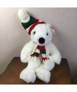 TY Holiday White Polar Bear 5700 Christmas Plush Stuffed Animal 1997 Ret... - $26.79