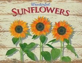 Sunflower Rustic/Primitive Metal Sign - $19.95