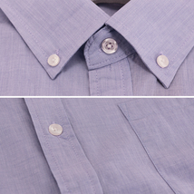 Men's Cotton Casual Short Sleeve Classic Collared Plaid Button Up Dress Shirt image 4