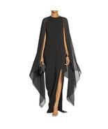 Women's Flare Chiffon Sleeve High Split Formal Evening Gown Maxi Dress W... - $25.99