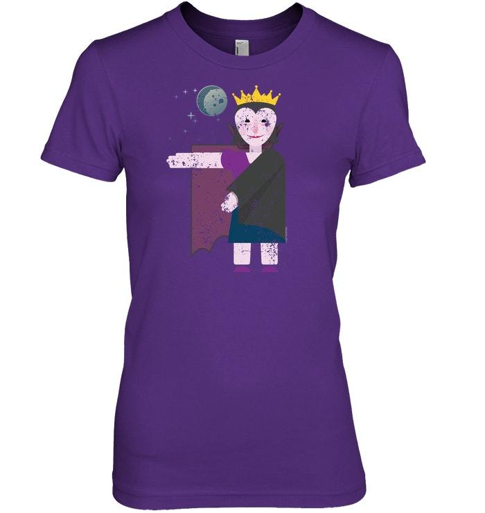 Funny Vampire Queen Halloween Tshirt