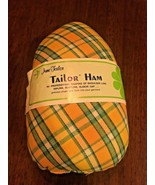 DRESSMAKER'S HAM June Tailor Pressing Sewing Tailor Yellow Green Plaid NEW - $19.30
