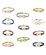 Infinity Symbol Hemp Rope Bracelets 11 Colors Stylish Cool Friendship Fo... - $9.86+