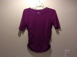 Women's Used Condition Duo Maternity Purple Cotton Spandex T-Shirt Size Medium