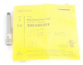 NEW TURCK NI4U-EG08-AP6X-H1341 PROXIMITY SENSOR IDENT. NO. 4600640, 10...30VDC