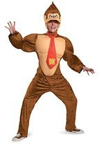 DIS98821 (XXL 50-52) Donkey Kong Adult Costume Brown - $76.88