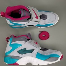 Nike Air Diamond Turf Shoes Mens Size 13 Athletic Gray Purple Teal - $74.79