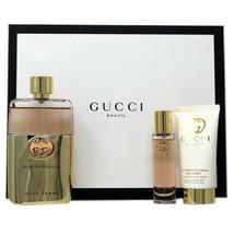 Gucci Guilty Pour Femme 3 Peice Gift Set Eau De Parfum Travel Spray 15ML Nib - $93.56