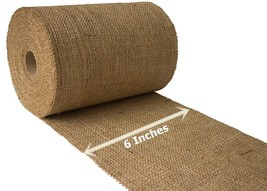 "6"" Natural Burlap Ribbon 10 Yards Unfinished Edge Premium Jute Craft Dec... - $26.73"