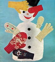1959 Bernat Handicrafter Children Men Women Knit Winter Gloves Mittens P... - $13.99