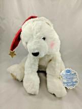 "Hallmark Snowball Bear Plush 2000 10"" Santa Hat Stuffed Animal toy - $12.95"