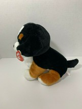"Ty Beanie Boos Roscoe Puppy Dog plush black brown white medium 9"" W/Tags... - $14.84"