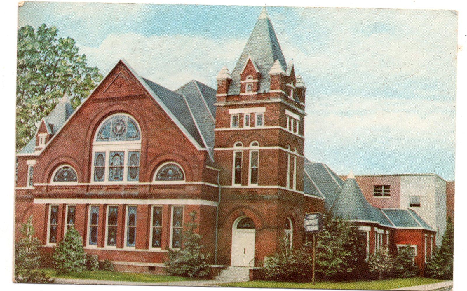 First Baptist Church Humboldt TN (1967) - Vintage Postcard - $4.00