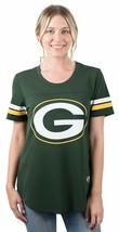 Ultra Game Women NFL New Orleans Saints Mesh S/S Crew York Tee Green Bay Pack L - $33.65