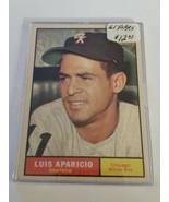 1961 Topps #440 Luis Aparicio : Chicago White Sox - $10.93
