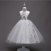 Flower Girl Dress Wedding Bridesmaid Pageant Formal Prom Gown Organza M-... - $35.50