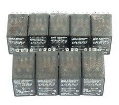 LOT OF 9 POTTER & BRUMFIELD KHAU-17D12-24 RELAYS KHAU17D1224, 24VDC, 5A