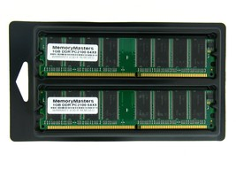 2GB  2X1GB MEMORY FOR EMACHINES T1740 T1742 T1840 T1842 T1860 T1862 - $22.52