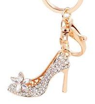 Elegant Rhinestone Key Chain High-heeled Shoes Style Keyring - $11.98