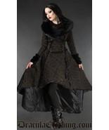 Brown Evil Queen Brocade Goth Victorian Long Winter Corset-Back Steampun... - $169.03