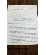 1964 WALT DISNEY PRODUCTIONS STORY ANALYST REPORT WHO IS MR. DEAN SIDNEY... - $98.99
