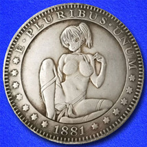 "Sexy Girl 25 ""Hobo Nickel"" on Morgan Dollar Coin ** - $3.79"