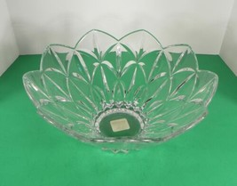 Lenox SHOOTING STAR Lead Crystal Centerpiece Bowl Large Round Glass - $49.45