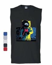Neon Astronaut Muscle Shirt Moon Landing Space Travel Universe Earth Sleeveless - $17.66+