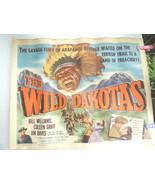 1956 Wild Dakotas Half Sheet Western Movie Poster - $49.99