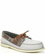 Sperry Men's A/O 2-Eye Gingham Sneaker Grey STS 222453- Choose Size Multi - $77.95
