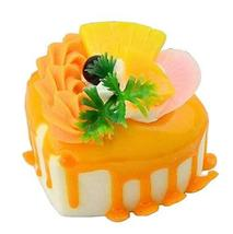 Black Temptation Set of 2 Artificial Cake Lifelike Cake Model Fake Cake, Yellow  - $14.35