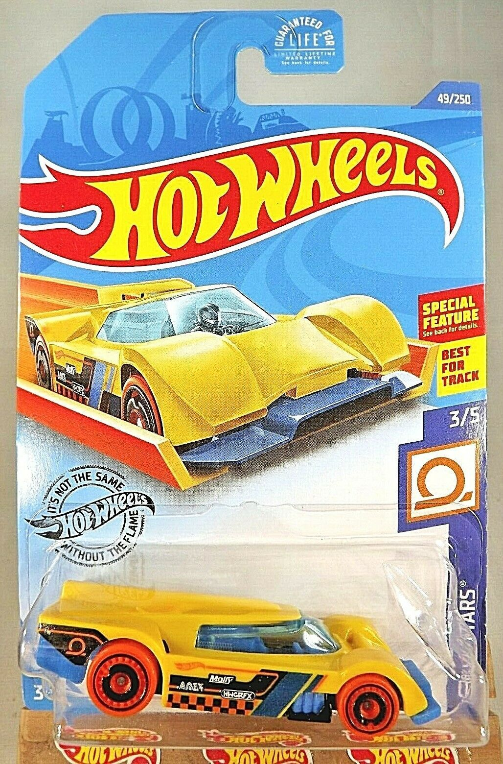 Primary image for 2020 Hot Wheels #49 Track Stars 3/5 GRUPPO x24 Yellow Variant wOrange Whls AD Sp