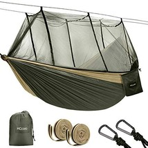 HCcolo Double Camping Hammock with Mosquito Net, 10ft Hammock Tree Strap... - $33.96