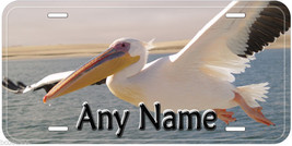 White Pelican Flying Any Name Personalized Novelty Car License Plate - $14.80