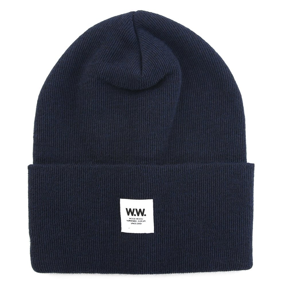 Wood Wood Tall Wool Beanie 11530812-4061 (Navy)