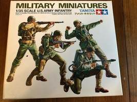 Tamiya Military Miniatures 1/35 Scale U.S. Army Infantry Kit#3513 Comple... - $14.84