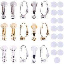 30 Pieces Clip-on Earrings Converter Components 3 Colors Brass Earring C... - $11.34