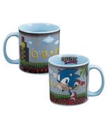 Sonic the Hedgehog Video Game Art Heat Reactive 20 oz Ceramic Mug NEW UN... - $15.47