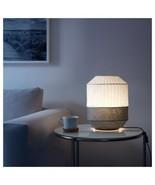 """IKEA MAJORNA Table lamp with LED bulb, white/gray, 13 """", spreads diffuse... - $31.67"""