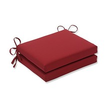 Pillow Perfect Indoor/Outdoor Red Solid Seat Cushion Squared, 2-Pack - $36.69
