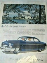 1951 Lincoln Automobile Print Ad (+Jefferson Memorial) - $6.92