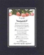 Touching and Heartfelt Poem for Loving Partners - To My Wife, Someone Sp... - $15.79