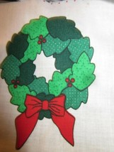 Vintage Fabric Traditions 1991 Christmas Wreath Fabric Panel Brand New - $9.99