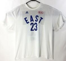 2016 NBA All Star Game Adidas Kia Lebron James #23 Xl T-shirt White City... - $20.00