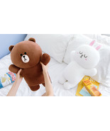 LINE FRIENDS Character HUG ME Soft Pillow Cushion 2 Types BROWN CONY - $64.99