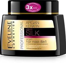 Eveline Cosmetics Liquid Silk Professional ARGAN HAIR MASK 8IN1 with Arg... - $15.67