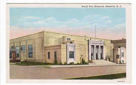 World War Memorial Hall Bismarck North Dakota postcard - $6.00