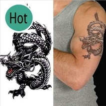 Men / Women Fashion Temporary Tattoo Dragon Pattern Body Art Waterproof Sticker image 1