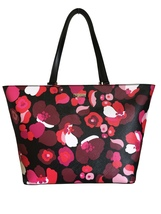 Kate Spade Jules Pink Red Black Floral Saffiano Look Tote Medium Bag Pur... - ₨8,765.52 INR